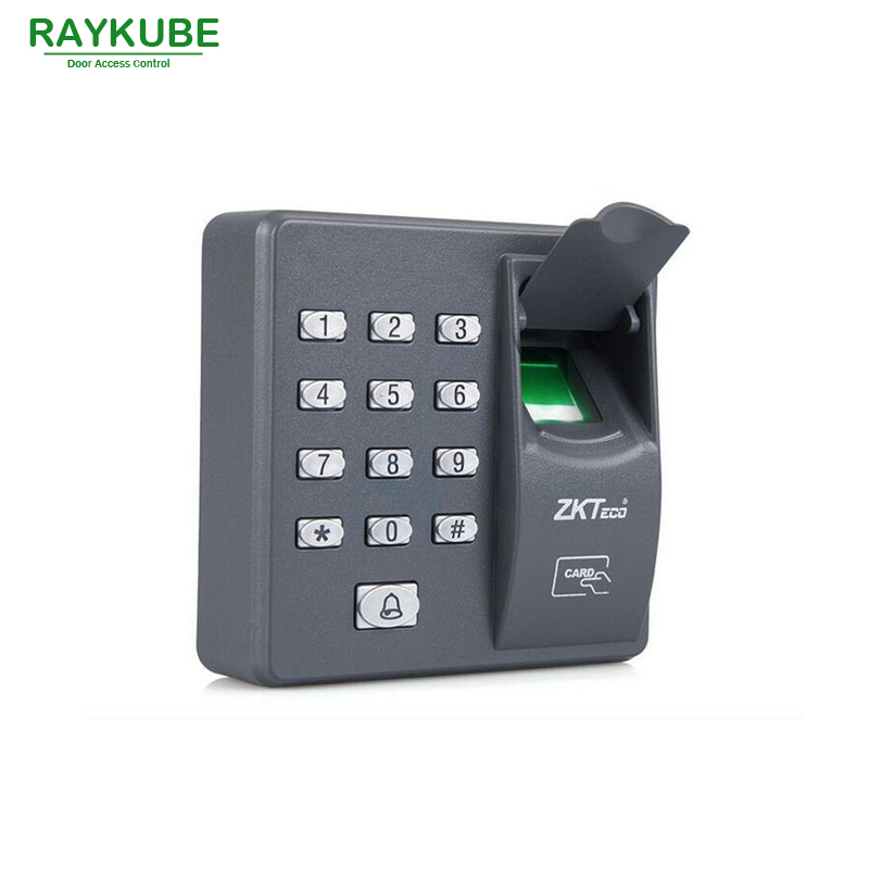 RAYKUBE Biometric Fingerprint Access Control Machine Digital Electric RFID Reader Password Keypad 3 In 1 R-FX6 biometric face and fingerprint access controller tcp ip zk multibio700 facial time attendance and door security control system
