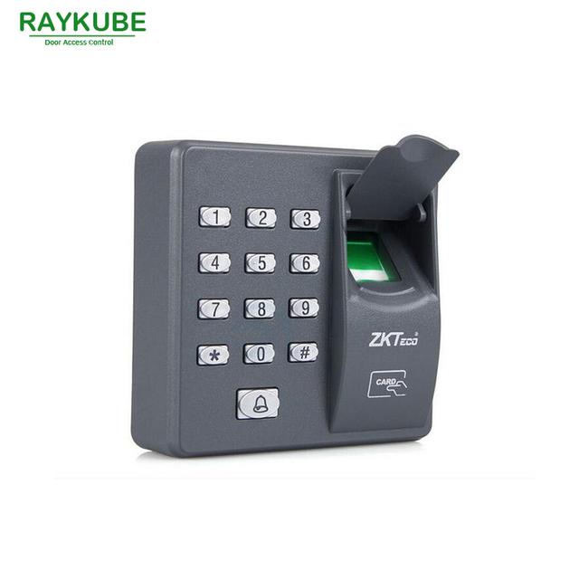 RAYKUBE Lector RFID Biométrico de Control de Acceso por Huella Digital de La Máquina Eléctrica Contraseña Teclado 3 En 1 R-FX6