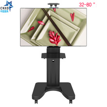 Cell TV Carts Movable Flooring Stand with Mount and DVD Shelf LCD LED Flat Display screen TV Desk Trolley matches 32″ to 80″