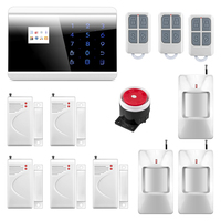 IOS Android APP Control Wireless Zone GSM PSTN Home Alarm System SMS Arm/Disarm Door Contact Sensors Alert 8218G