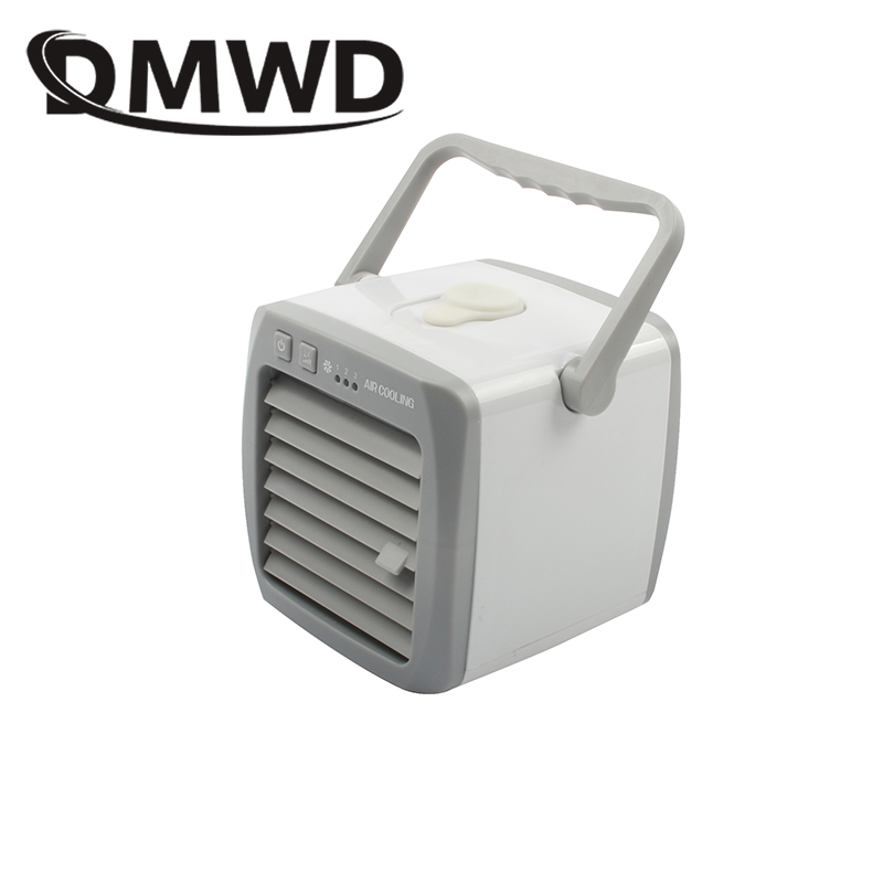 DMWD Mini Desktop USB Air Conditioning Fans Portable Mist Conditioner Cooling Fan Humidifier Ionizer Purifier Cooler Home Office dmwd portable strong wind air conditioning cooler electric conditioner fan mini air cooling fans humidifier water cooled chiller