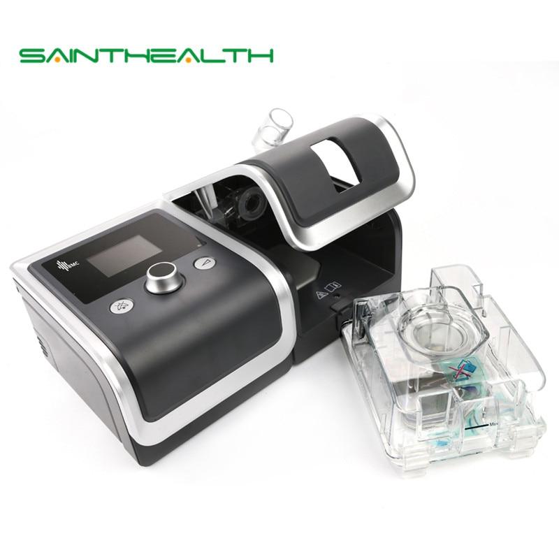 Gii CPAP машины Портативный тихий респиратор для сна храпа апноэ с носовой маска для лица увлажнитель фильтр Пластик мешок шланга