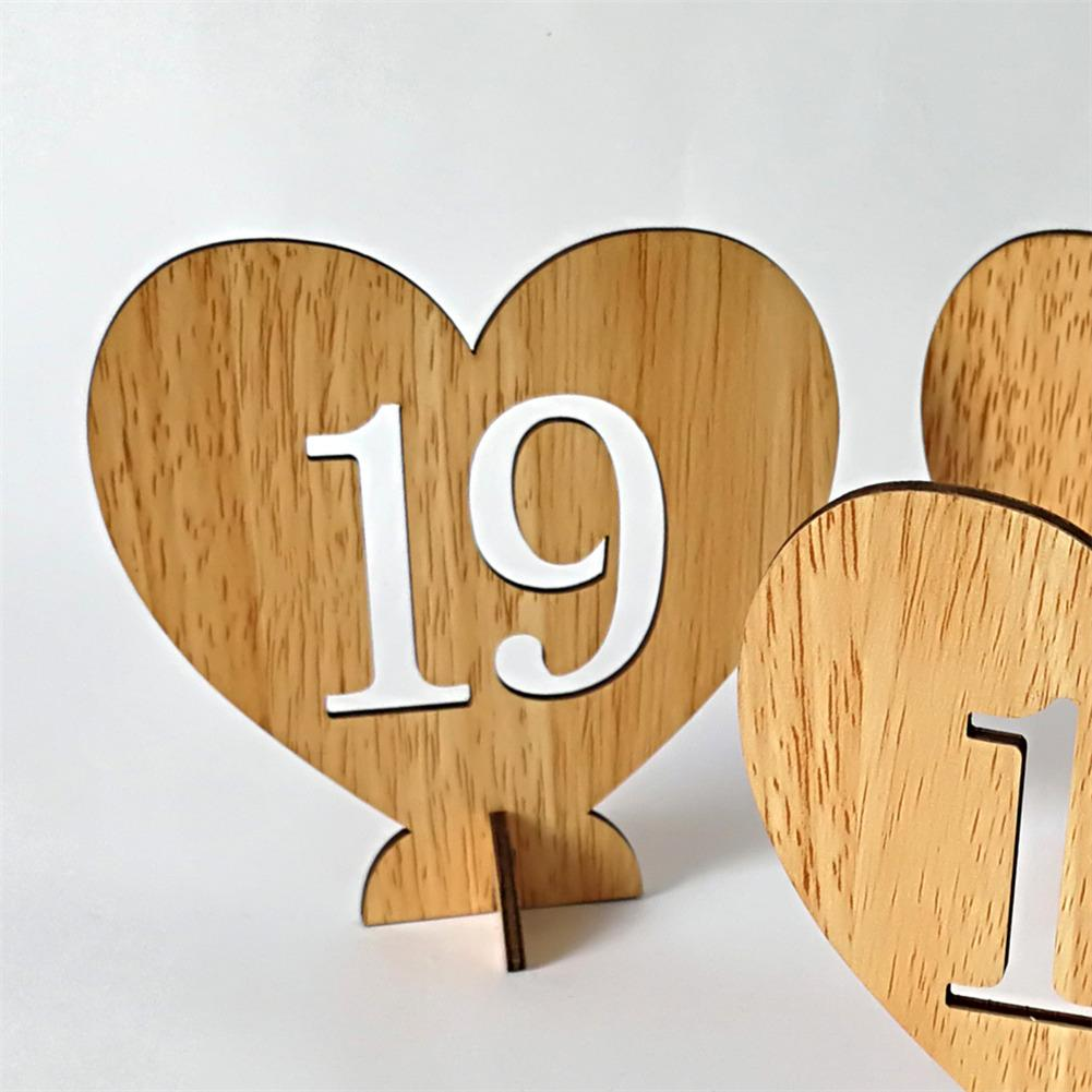 Party Diy Decorations New Party And Holiday Diy Decorations 1 To 10 Number Wood Hollow Digital Flower Insert Seat Card Wedding Table Number Plate Discounts Price