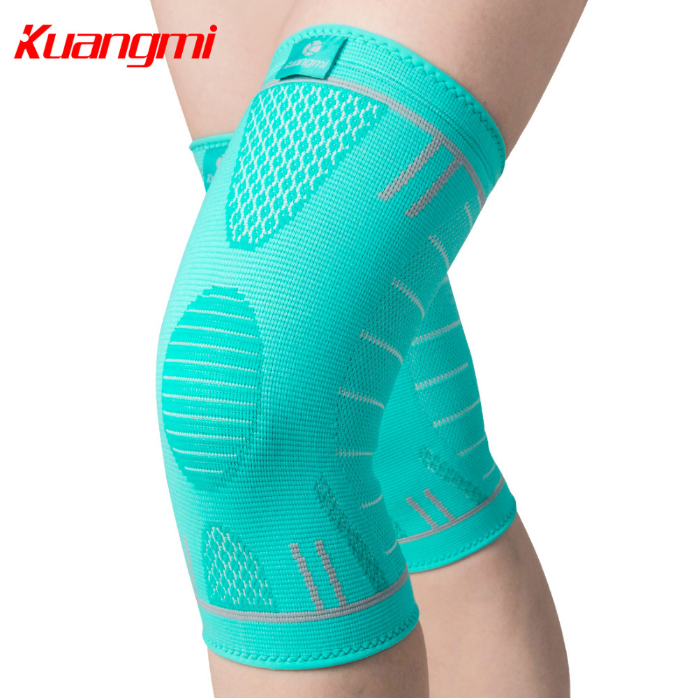 Kuangmi 1 PC Knee Support Sports Compression Anti-slip Volleyball Basketball Knee Brace Elastic Kneepad Sleeve Protection Gear