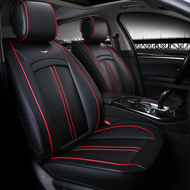 pu leather car seat covers premium four seasons car seat cushion for camry for honda seat. Black Bedroom Furniture Sets. Home Design Ideas