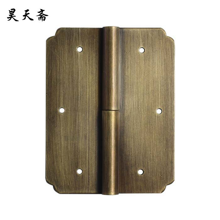 [Haotian vegetarian] special! Ming and Qing antique furniture, copper fittings copper hinge hinge shake skin HTF-049[Haotian vegetarian] special! Ming and Qing antique furniture, copper fittings copper hinge hinge shake skin HTF-049