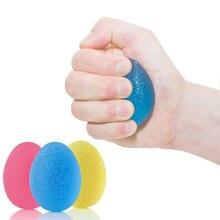 Хороший Здоровый 3 шт./компл. гель яйцо мяч для снятия стресса Рука Упражнения палец расслабляющий успокаивающий, для сжимания Спиннер