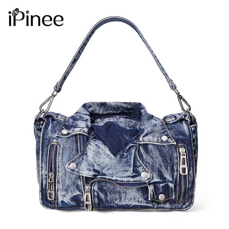 iPinee Designer Denim Handbags Casual Women Messenger Bags Jean Bags Womens Purses Hobo Travel Tote Cross Body Bag