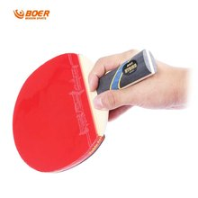 BOER S5 Quality Table tennis Racket Pure Wood Pimples-in Rubber Bat Pimples-in Racket rubber bat for Fast Attack Type Player