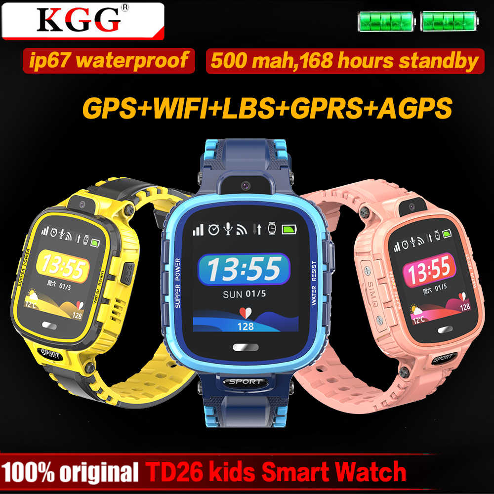 GPS Smart Watch Kids Camera IP67 Waterproof Wifi Tracker Phone Smartwatch Children SOS Monitor Positioning Watch 500mAh Battery
