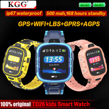 GPS Smart Watch Kids Camera IP67 Waterproof Wifi Tracker Phone Smartwatch Children SOS Monitor Positioning Watch 500mAh Battery(China)
