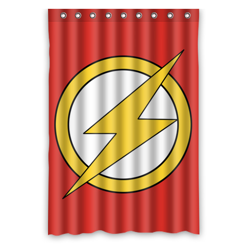 Super Hero The Flash Design Waterproof Fabric Shower Curtain Mouldproof  Polyester Bathroom Curtain Supplies 122x182cm