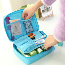 Large Travel Fold Toiletry Bag Women Oxford Cosmetic Bags Multifunction Makeup Organizer Pouch Cute Handbag
