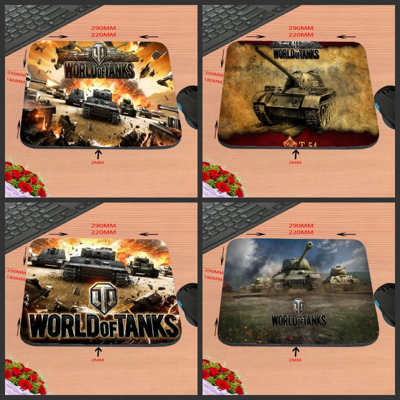 Hot Selling New Arrival World Of Tank Customized Gaming Mouse Pad Computer Notebook Non-Slip Mousepad 18*22/25*20/29*25*2cm