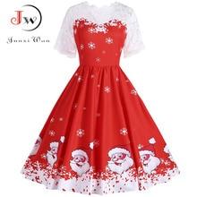 Women Floral Print Slim Vintage Dress Casual Sleeveless Elegant Midi ChristmasParty Dresses