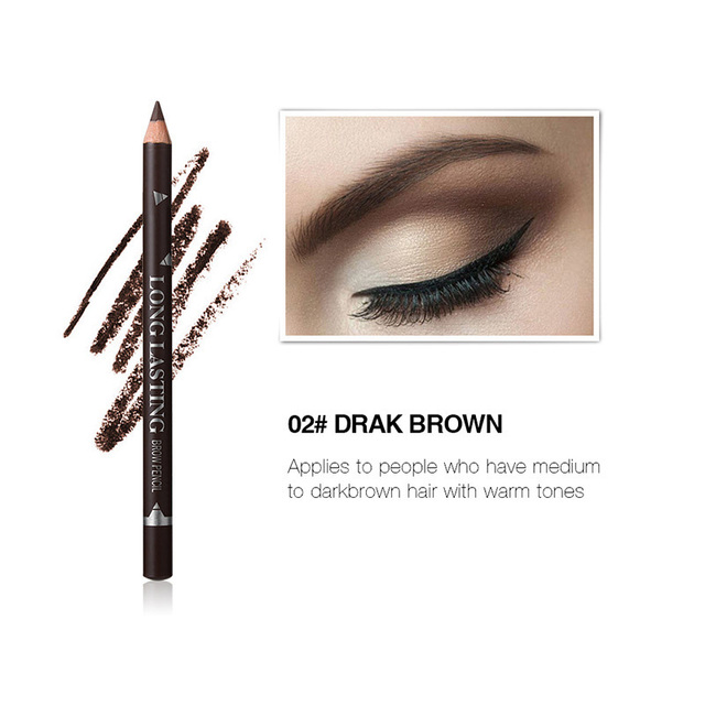 MENOW 3 Colors Black Eyeliner Pencil for Women Waterproof Brown Eyebrow Eye Liner Pencils Makeup Tools Wholesale & Dropshipping 4