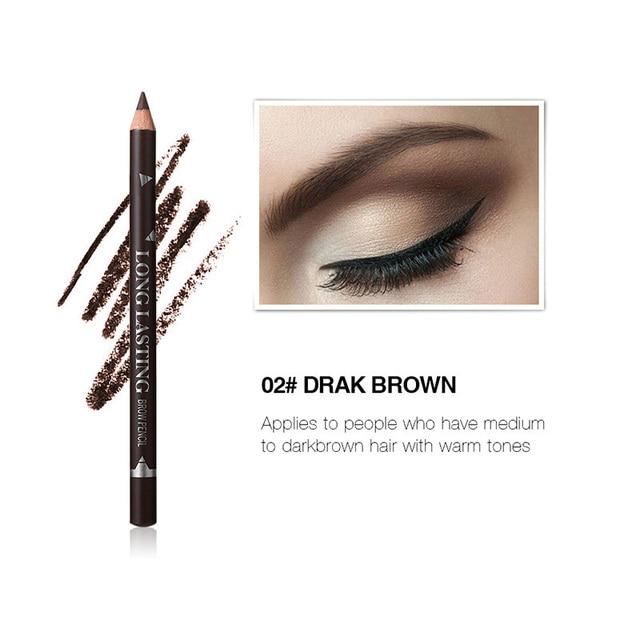 MENOW 3 Colors Black Eyeliner Pencil for Women Waterproof Brown Eyebrow Eye Liner Pencils Makeup Tools Wholesale & Dropshipping 4