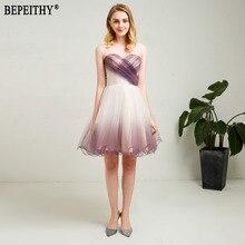 BEPEITHY 새로운 디자인 Vestido 드 페스타 롱고 아가씨 작은 흰색 드레스 짧은 댄스 파티 드레스 칵테일 드레스 2018