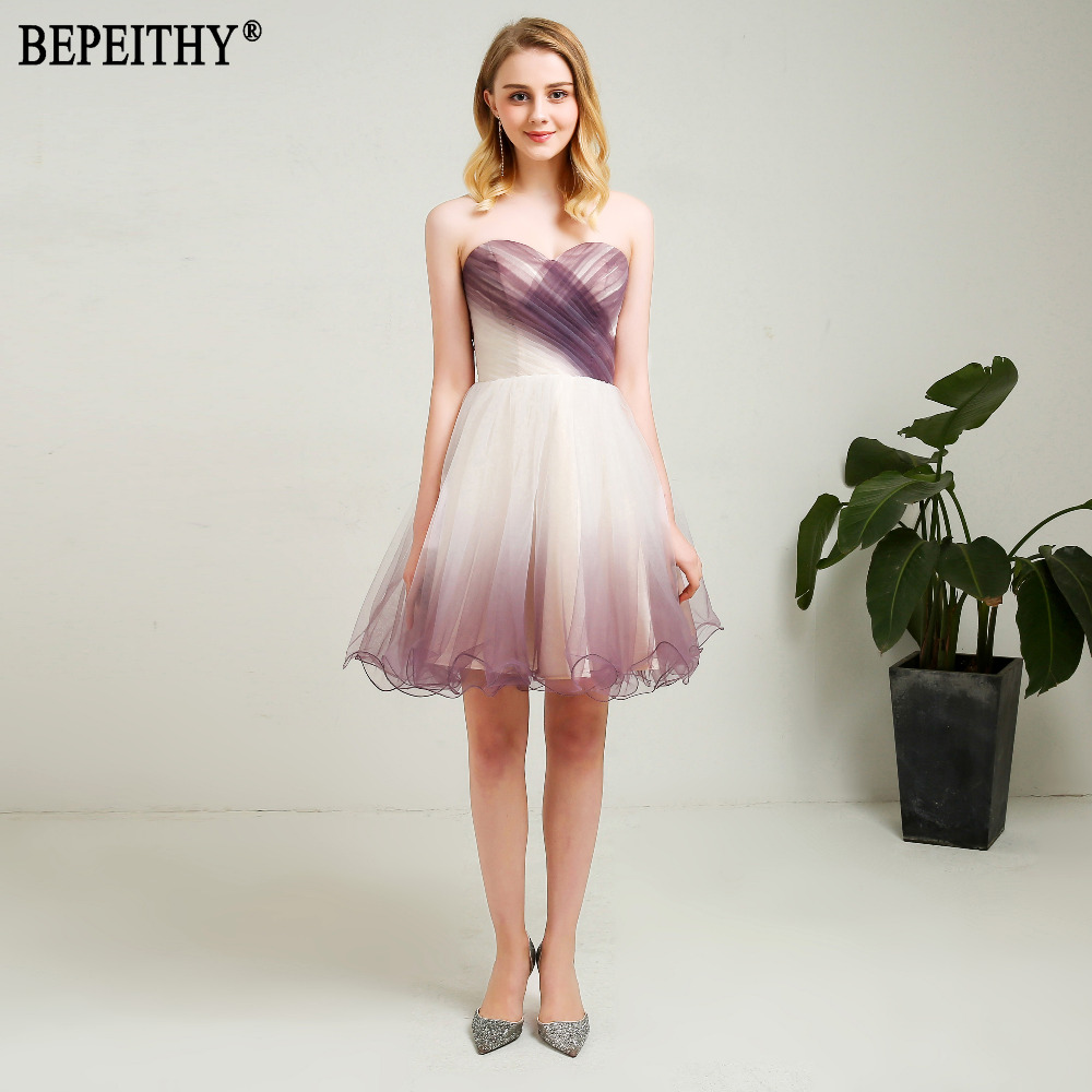 BEPEITHY New Design Vestido De Festa Longo Sweetheart Pleats Little   Dresses   Short Prom   Dresses     Cocktail     Dresses   2018