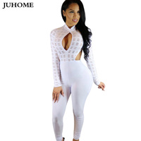 Autumn Female Jumpsuit Women Rompers Body Suit Black Coveralls Sexy Macacao Tulum One Piece Bodycon Long