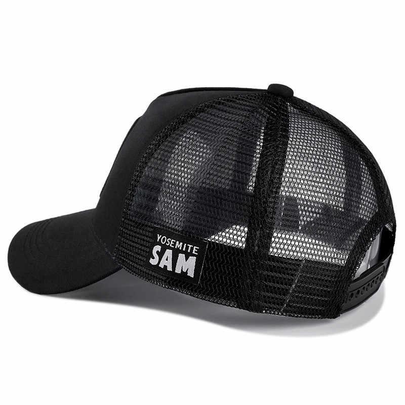 Yeni Marka Anime Karikatür Snapback Kap SAM Işlemeli pamuklu beyzbol şapkası Erkek Kadın Hip Hop Baba Şapka Trucker örgü şapka Dropshipping