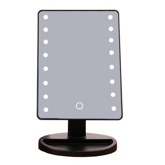 10 stks/partij LED Make Up Spiegel Cosmetische Desktop Draagbare ...