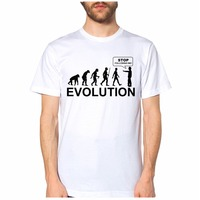 Newest Funny SHIRT UNISEX EVOLUTION STOP FOLLOWINME Camiseta Divertida S M L XL Printed T Shirts
