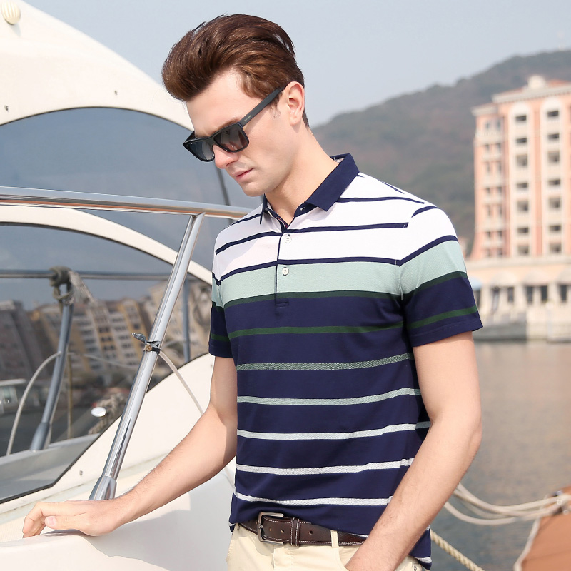 Men Short Sleeve Poloshirts Shirt 2019 Summer New Casual Cotton Men Tops Purple Blue Green Male Clothing 5528