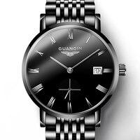 Guanqin 2019 relogio masculino relógios masculinos de negócios relógio automático data homem relógios marca superior luxo à prova ddate água data