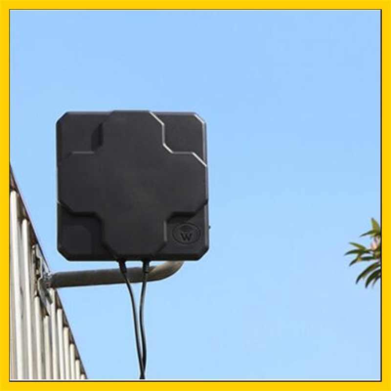 2 * 22dBi في الهواء الطلق 4G LTE MIMO هوائي LTE المزدوج الاستقطاب لوحة هوائي SMA-ذكر موصل 5 متر كابل علامة هواوي 4G راوتر