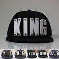 3D Acrílico Carta KING QUEEN Custom Caps Sombreros Amante de la Cadera Hop gorros tachonado snapback sombreros para hombre Gorras de Béisbol Para Adultos mujeres