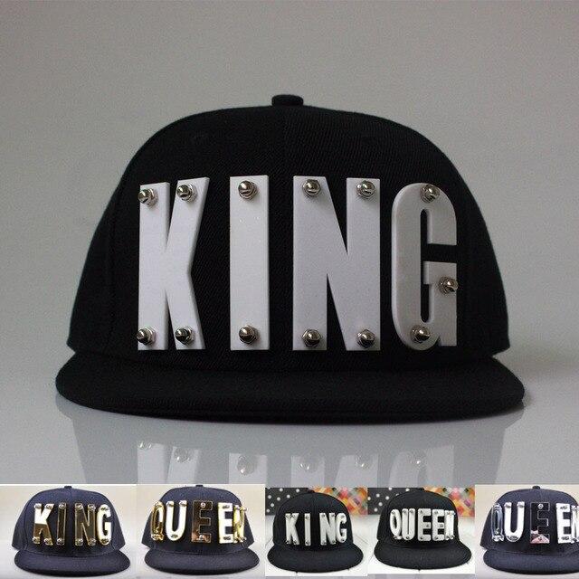3D Acrylic Letter KING QUEEN Custom Caps Lover Hats Hip Hop Adult Baseball  Caps gorros studded snapback hats for man women 9b69c2f82a0