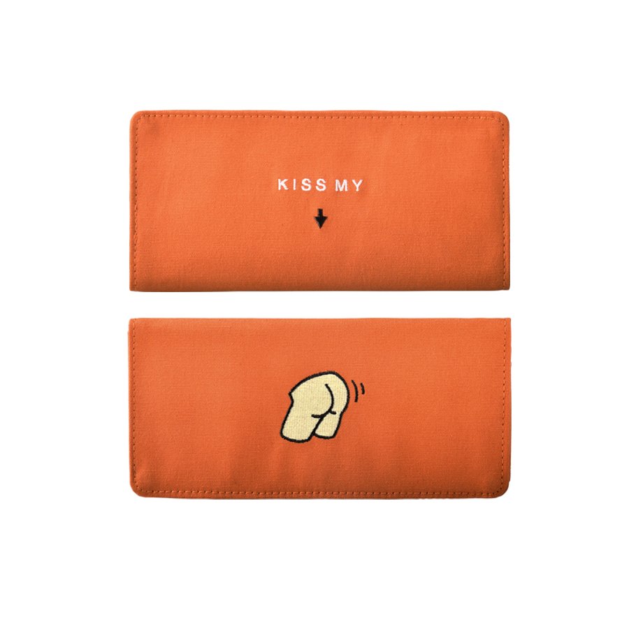 Roliga kanfasbroderier långa plånböcker i FUNNY serie 6styles (FUN KIK)