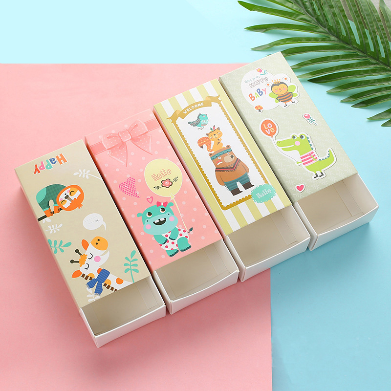10pcs Cookie Candy Box Paper Gift Boxes Biscuits Packaging Carton Animal Paper Box Wedding Favor Kids Birthday Party Decoration