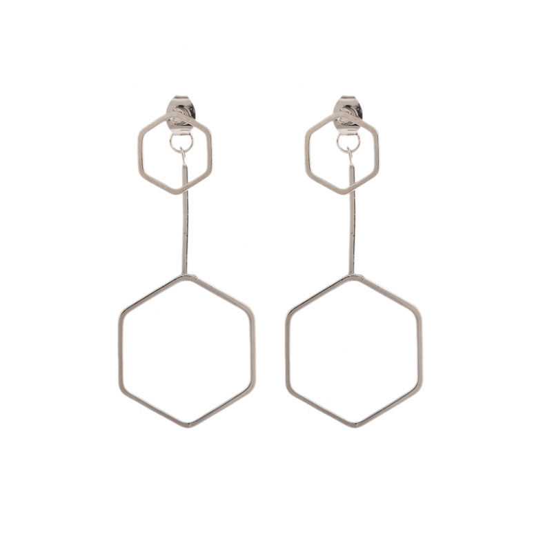 Sell like hot cakes refined copper casting hexagon . Ms eardrop fashion accessories sent free of charge