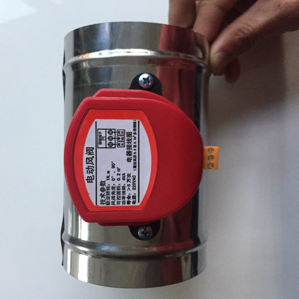 Air Conditioning Appliance Parts Reasonable Hvac Stainless Steel Air Damper Valve 220v Electric Air Duct Motorized Damper For 4ventilation Pipe Valve 100mm Home Appliances