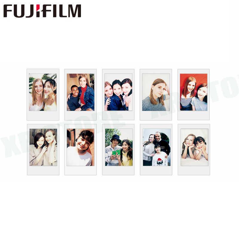 10-200 arkusze Fujifilm Instax mini film biała krawędź 10 20 40 60 80 100 200 arkusze dla FUJI Instant instax mini 8 9 zdjęcie z kamery