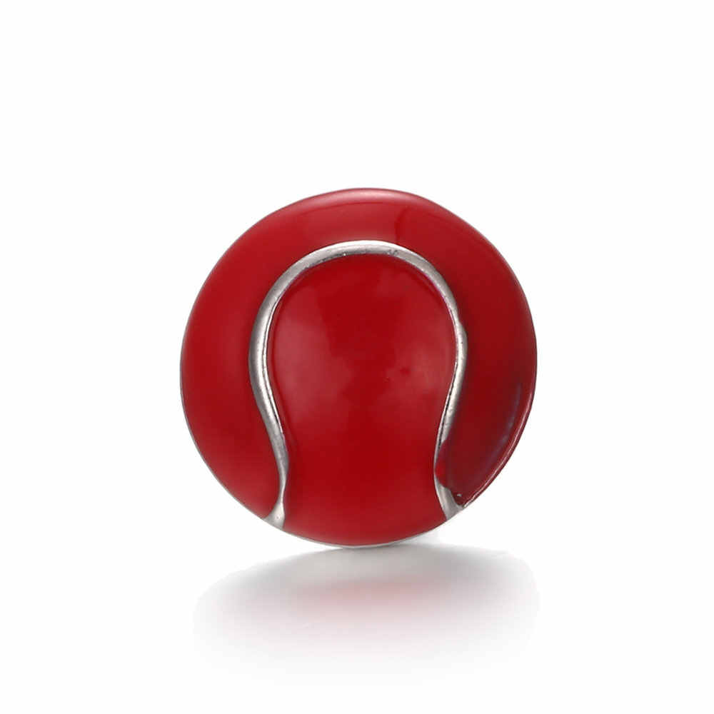 高品質18ミリメートル金属スナップボタンチャームテニスボールボタンスナップボタンジュエリーTZ2004