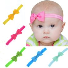 baby girl headband Infant hair accessories cloth Tie bows Headwear tiara Gift Toddlers bandage Ribbon newborn headwrap(China)