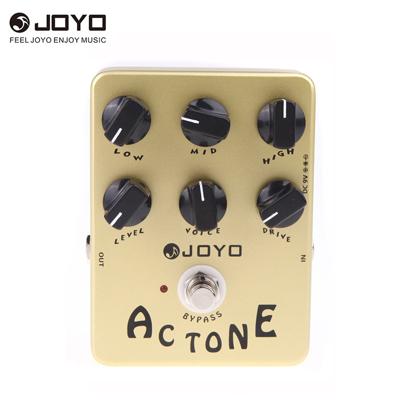 joyo jf 13 ac tone guitar effect pedal classic british rock sound reproduces the sound of a vox. Black Bedroom Furniture Sets. Home Design Ideas