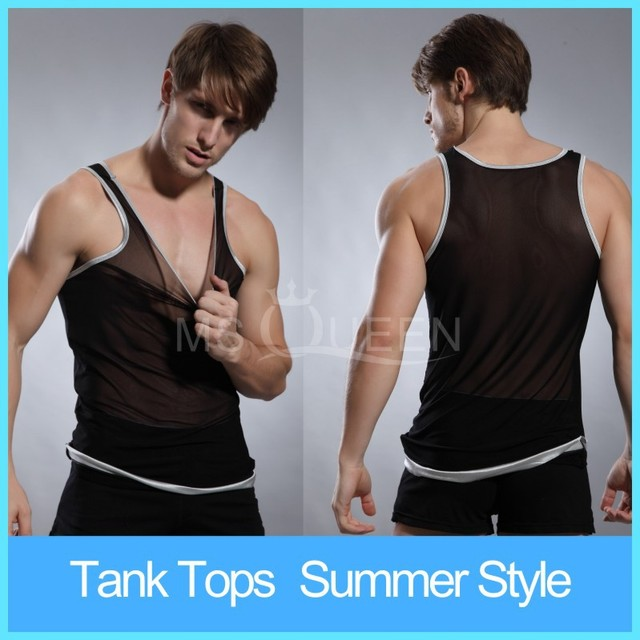 5a8725c3c9960 3 Color Transparent ice silk Ultra thin Tank Top Muscle Shirt