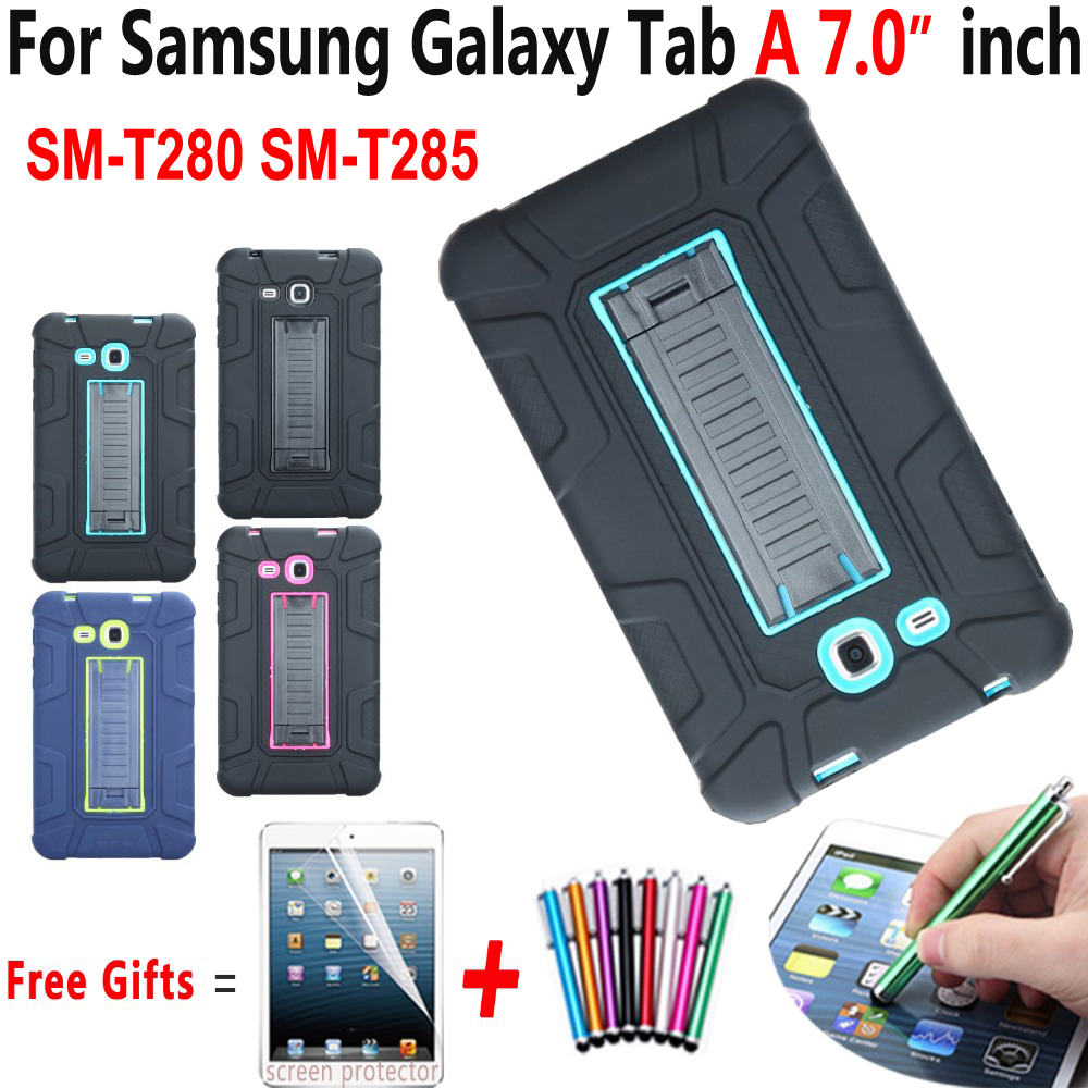 Cas pour Samsung Galaxy Tab UN 7.0 2016 Antichoc Béquille Enfants Safe Couvercle Samsung Galaxy Tab A6 7.0 SM-T280 SM-T285 Funda