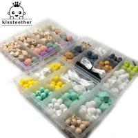 DIY Silicone Baby Teething Necklace Kit Free Storage Case Included Perfect Baby Shower Gift Food Grade