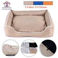 Pet Bed For Dogs Cats Cotton Bench For Puppy Bed For Small Medium Dogs House Warm Lounger Mats For Dogs Bed Pet Cushion COO050