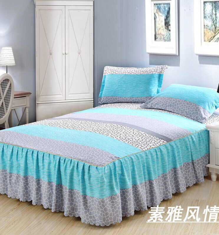 Captivating Queen Bedskrit Sunny Mood Elastic Fitted Sheet Bed Cover Mattress Cover Bed  Skirt Bedclothes Bedspreads Cushion Cover 3pcs/set In Bedding Sets From  Home ...