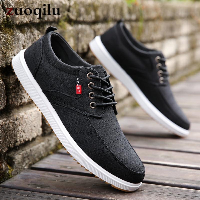 Men Casual Shoes 2019 Summer Canvas Shoes Men Breathable Casual Canvas Men Shoes Walking Men Shoes Chaussure Homme Factory sales 1