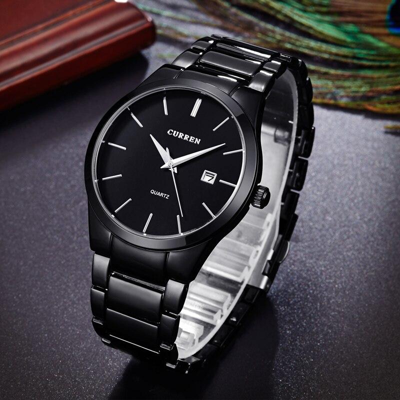 35f157de3674 Relojes CURREN de moda de 2018 relojes deportivos de acero de alta calidad para  hombres militares de lujo de regalo reloj de pulsera reloj masculino en ...