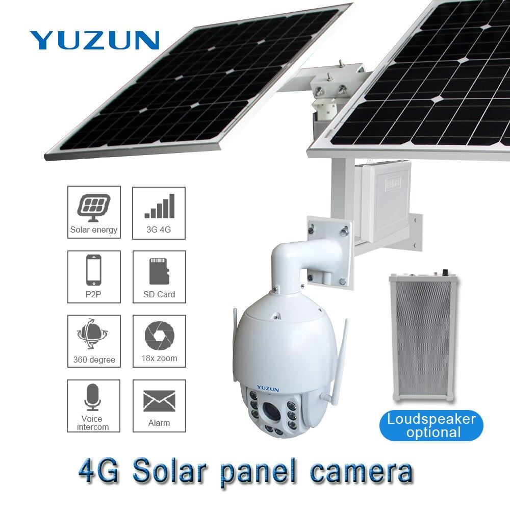Caméra de vidéosurveillance solaire sans fil 3g 4g 1080 P 2.0 M 18x Zoom optique SIM caméra de Surveillance de batterie d'énergie solaire extérieure