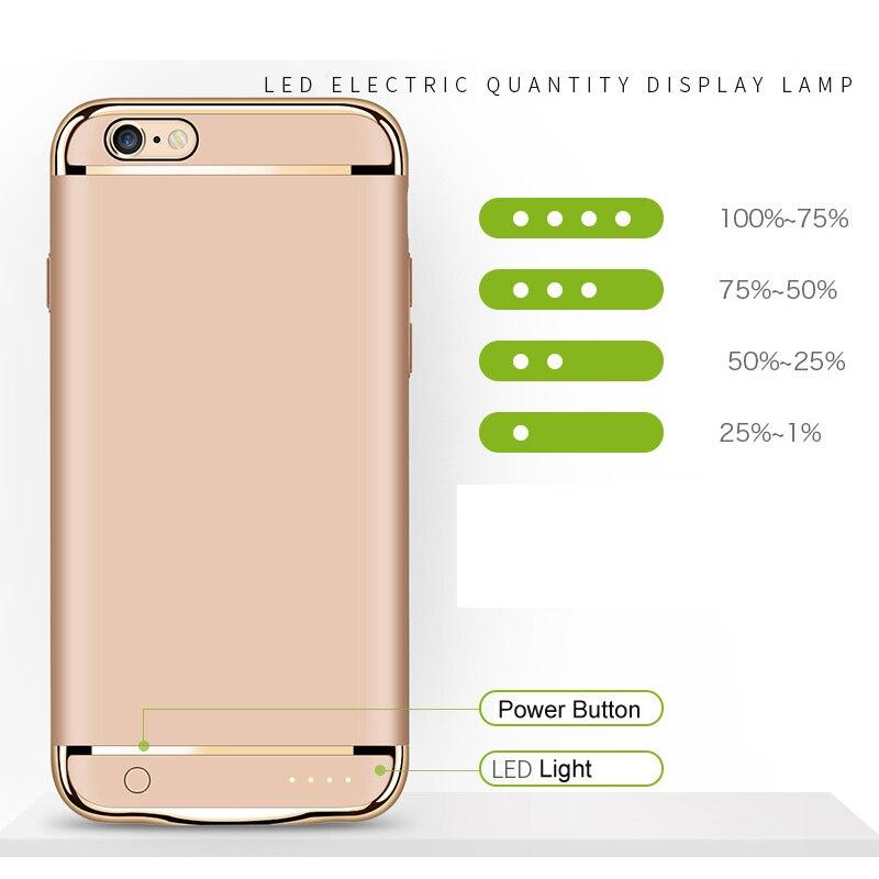 imágenes para Caso del cargador de batería 2500 mah para iphone 7 3500 mah para iphone7 más Caso Delgado Ultra Fino de la Batería de Reserva Externa Banco de la Energía caso