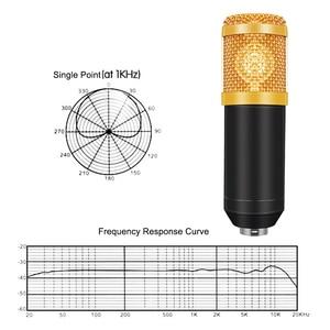 Image 4 - Professional bm 800 Condenser Microphone 3.5Mm Wired Bm 800 karaoke BM800 Recording Microphone for Computer Karaoke KTV